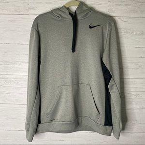 Nike grey men's hoodie